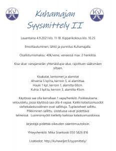Syysmittely II, kisakutsu